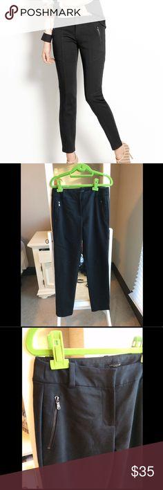Ann Taylor black moto pants Ann Taylor black moto pants. Size 8 but fits smaller like a 6. Perfect condition! Ann Taylor Pants Skinny