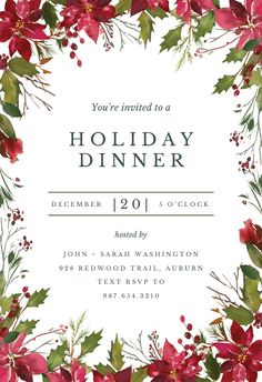 jingle and mingle christmas party invitation with elegant styled