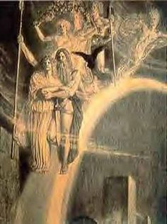 Æsir - áss (or ǫ́ss, ás, plural æsir; feminine ásynja, plural ásynjur) is the term denoting a member of the principal pantheon in the indigenous Germanic religion known as Norse paganism. This pantheon includes Odin, Frigg, Thor, Baldr and Týr. The second pantheon comprises the Vanir. In Norse mythology, the two pantheons wage the Æsir-Vanir War, which results in a unified pantheon.