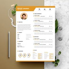Elegant page designs are easy to use and customize, so you can quickly tailor-make your resume for any opportunity Graphic Design Cv, Resume Design, Resume Cv, Print Design, Cv Design Template Free, Cv Curriculum Vitae, Cv Words, Modern Resume, Cover Letter For Resume