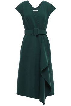 Shop on-sale Asymmetric belted wool-blend wrap dress. Browse other discount designer Midi Dress & more luxury fashion pieces at THE OUTNET Day Dresses, Dresses For Sale, Dress Outfits, Fashion Dresses, Dresses For Work, Summer Dresses, Dress Sale, Look Vintage, Luxury Fashion