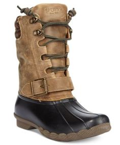 Take on chilly days in the Saltwater Misty boots by Sperry. These stylish boots will help keep you warm and dry without sacrificing fashion. | Leather upper; rubber sole | Imported | Round closed-toe
