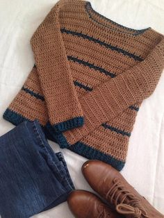 Free Crochet Sweater Pattern For Women Croc Top Crochet, Black Crochet Dress, Love Crochet, Beautiful Crochet, Easy Crochet, Crochet Baby, Knit Crochet, Crochet Sweaters, Crochet Shrugs