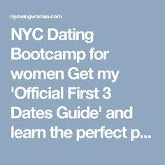 Dating Boot Camp NYC