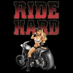 TSHIRT  Ride Hard Motorcycle Biker Design by AlwaysInStitchesCo, $13.50