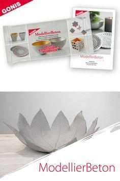 Lufttrocknende Modelliermasse zum Formen von Gegenständen in Betonoptik. Place Cards, Place Card Holders, Diy, Crafts, Modelling Clay, Play Dough, Projects, Gifts, Crafting