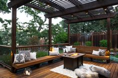 The wooden pergola is a good solution to add beauty to your garden. If you are not ready to spend thousands of dollars for building a cozy pergola then you may devise new strategies of trying out something different so that you can re Diy Pergola, Pergola Canopy, Deck With Pergola, Outdoor Pergola, Wooden Pergola, Pergola Shade, Pergola Kits, Outdoor Seating, Backyard Patio