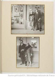 Anna de Noailles  and Edouard Herriot at Berheim Gallery, 1927. Bibliothèque nationale de France