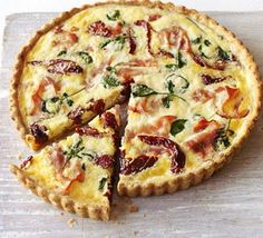The secret to this tart is its cheesy, crisp polenta crust. Fabulous warm or cold and perfect for picnics
