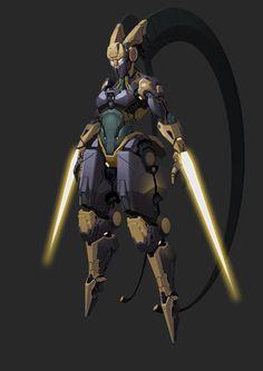 ArtStation - 女妖双刃剑, YU YIMING