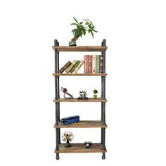 Pipe Bookshelf, Pipe Desk, Pipe Table, Pipe Shelves, Ladder Bookcase, Bookshelves, Black Pipe, Study Desk, Industrial Pipe