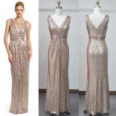 Sparkly Prom Dresses,Sequined Prom Dresses,V-Neck Prom Dresses,Noble Prom Dresses,Long Prom Dresses,p00261