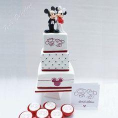 Bruidstaart Disney Micky en Minnie
