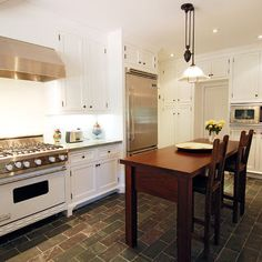 Really want slate floors in our kitchen - loving the tile! :)