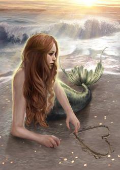 "A beautiful blue hair mermaid dives into a relaxing green sea. Fantasy art painting, ""Diving Mermaid"" by Sue Halstenberg. Real Mermaids, Fantasy Mermaids, Mermaids And Mermen, Mermaid Artwork, Mermaid Canvas, Mermaid Paintings, Mermaid Fairy, Mermaid Beach, Fantasy Kunst"