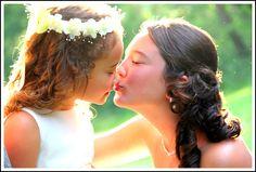 wedding photography  bridesmaid and flower girl
