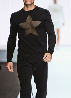 monsieurcouture:    Dirk Bikkembergs S/S 2012. genius little touch. The star says it all. MH