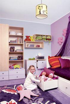kids room Interior Decorating, Decorating Ideas, Pink Room, Room Interior, Toddler Bed, Rooms, Interiors, Purple, Kids