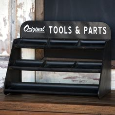 Tools and Parts Metal Display Shelf