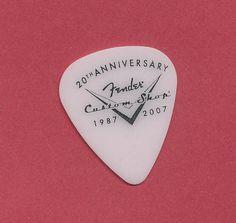 Fender Custom Shop 20th Anniversary heavy guitar pick #Fender #GuitarPick