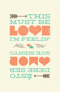 This must be love I'm feelin' - Brad Hodson. A quick graphic design sketch I made using my wedding colors.