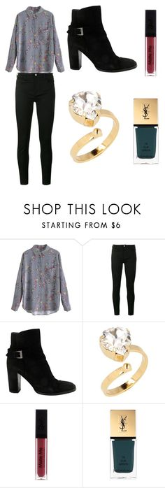 """""""Sans titre #5972"""" by merveille67120 ❤ liked on Polyvore featuring Gucci, Chanel, Otazu and Yves Saint Laurent"""