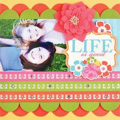 """""""The Beach"""" Scrapbook Page Layout Disney scrapbooking layout""""cute! Life is Good Scrapbook Layout scrapbooking Layout by Lonely Scrapbooker Recipe Scrapbook, Baby Scrapbook, Scrapbook Paper Crafts, Scrapbook Supplies, Scrapbook Cards, Scrapbook Photos, Scrapbook Sketches, Scrapbooking Layouts, Crafts For Kids"""