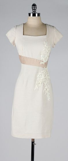 vintage 1950s dress . PEGGY HUNT . linen by millstreetvintage