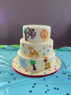 Zoo Baby Shower Cake