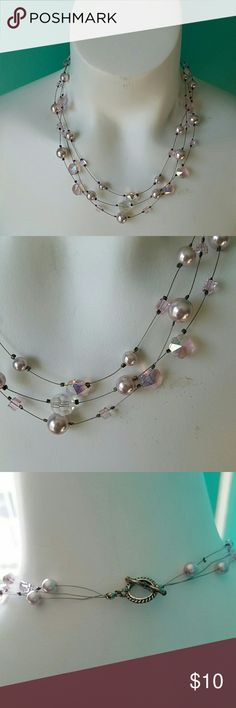 Purple and Silver Beaded Necklace This cute necklace is in great condition, no marks or flaws. Silver colored with purple beads. Jewelry Necklaces
