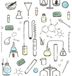 Chemical laboratory seamless pattern vector by Popmarleo on VectorStock®