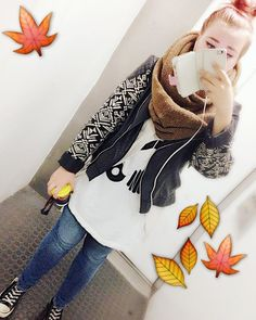 Finally #autumn is here. Oh how I missed you my dear cozy scarf! 🍂 So much going on right now with several #projects and I just can't wait to see what the future holds once they are done! { #ootd #autumnootd #selca #selfie #socozy #stormtrooper }