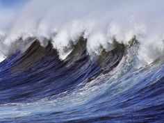 Breaking wave on the North Shore of Oahu Stretched Canvas Print by Frank Krahmer at Art.com