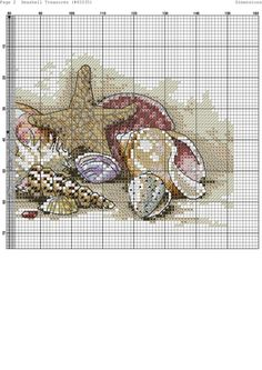 ru / Фото - 19 - very large - Seashell Treasures Tiny Cross Stitch, Cross Stitch Needles, Cross Stitch Cards, Cross Stitch Flowers, Cross Stitch Designs, Cross Stitching, Cross Stitch Embroidery, Cross Stitch Patterns, France Patchwork