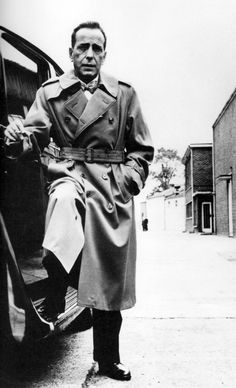 The Trench Coat and the Bowtie Crowd.  Humphrey Bogart.