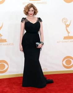 Christina Hendricks arrives at the 65th Primetime Emmy Awards at the Nokia Theatre in Los Angeles on September 22, 2013.