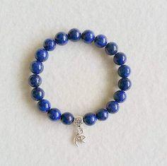 Lapis Lazuli Stretch Bracelet with charm