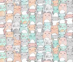 Animal Friends fabric by hikomari on Spoonflower - custom fabric