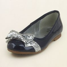 girl - shoes - ballet flats - glitter bow ballet flat | Children's Clothing | Kids Clothes | The Children's Place