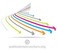 Colorful arrows graphics free vector.. More Free Vector Graphics, www.123freevectors.com