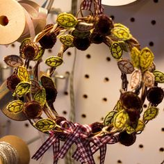 Lots of Christmas mini wreaths waiting for a new home