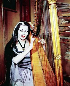 """vintagegal: """" Yvonne De Carlo as Lily Munster, """" The Munsters, Munsters Tv Show, Los Addams, Herman Munster, Lily Munster, 1957 Chevy Bel Air, Yvonne De Carlo, Horror Pictures, Family Photo Album"""
