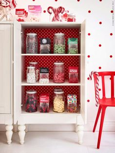 For some eye-catching open storage, add wallpaper to back of the ISALA cabinet.