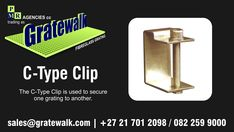 Fibreglass/Fiberglass Grating Fasteners - The C-Type Clip is used to secure one grating to another. Fasteners, Being Used, Type
