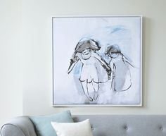 Hermit Girls canvas print by Ben Lowe