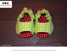 Süße Babyschühchen aus meinem Buch: http://www.kreativlaborberlin.de/mein-buch-babyschuehchen-naehen/