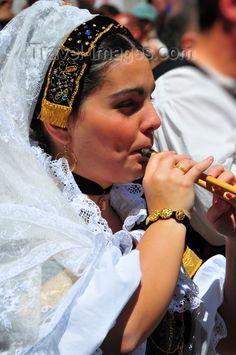 Launedas. Typical regional flute instrument