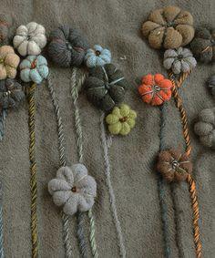 LUVRI   Rakuten Global Market: Sophie digard Sophie day girl flower applique scarf TIN