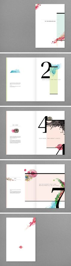Beautiful minimal editorial design