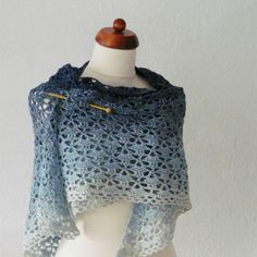 Gratis haakpatroon voor het maken van een Southbay omslagdoek uit één bol verloopgaren bio katoen van Wol zo Eerlijk. Gratis te downloaden.